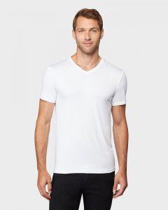 חולצת T COOL32 לגברים COOL32 COOL VNECK - לבן