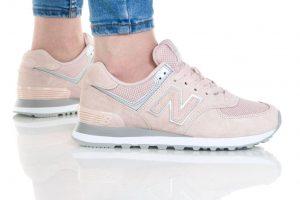נעליים ניו באלאנס לנשים New Balance WL574 - ורוד/לבן