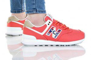 נעלי סניקרס ניו באלאנס לנשים New Balance WL574 - אדום