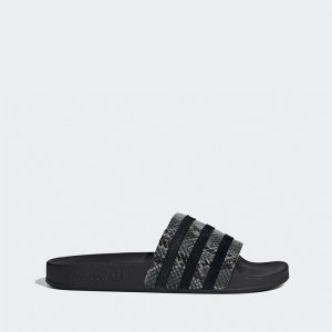 נעליים Adidas Originals לנשים Adidas Originals  Adilette - שחור/אפור