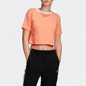 ביגוד אדידס לנשים Adidas CROP TOP - כתום
