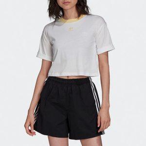 ביגוד אדידס לנשים Adidas CROP TOP - לבן