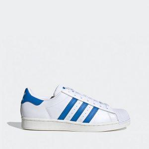 נעלי סניקרס אדידס לגברים Adidas Originals Superstar 2.0 - כחול/לבן