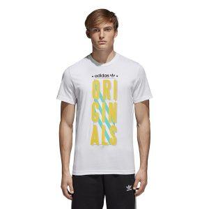ביגוד Adidas Originals לגברים Adidas Originals Graphic Slogan - לבן