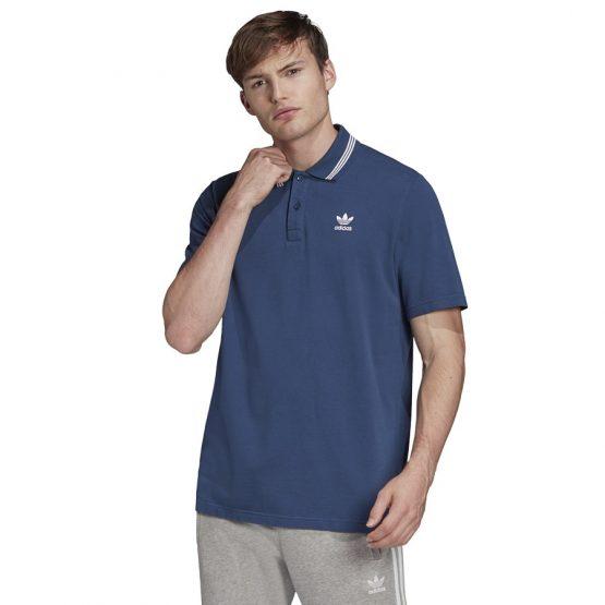 ביגוד Adidas Originals לגברים Adidas Originals PIQUE POLO - כחול