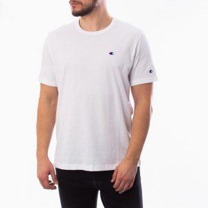 חולצת T צ'מפיון לגברים Champion Small C Logo - לבן