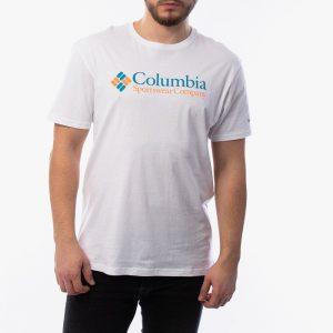 ביגוד קולומביה לגברים Columbia Basic Logo - לבן