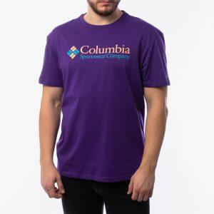 ביגוד קולומביה לגברים Columbia Basic Logo - סגול