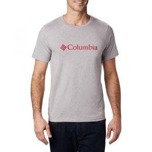 ביגוד קולומביה לגברים Columbia CSC Basic Logo - אפור