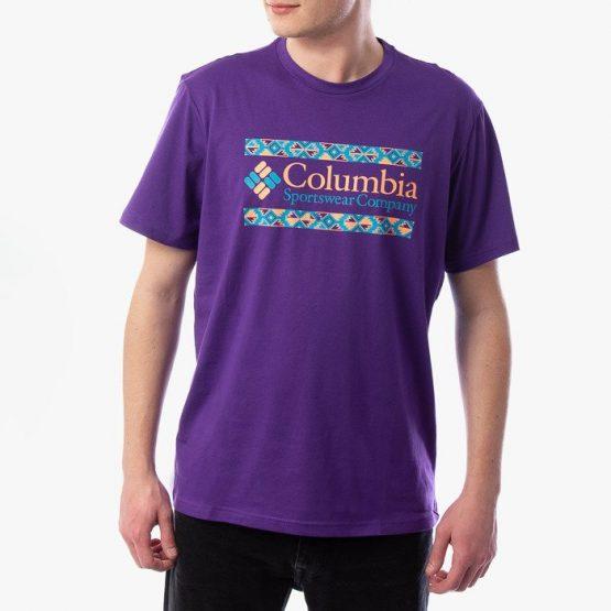ביגוד קולומביה לגברים Columbia Rapid Ridge Graphic - סגול
