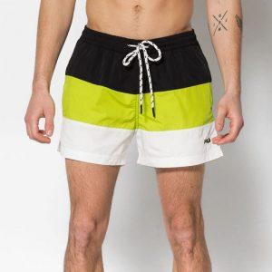 ביגוד פילה לגברים Fila Saloso Swim - שחור/צהוב