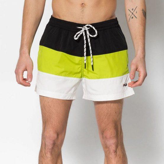בגד ים פילה לגברים Fila Saloso Swim - שחור/צהוב