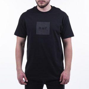 חולצת T HUF לגברים HUF Quake Box Logo - שחור