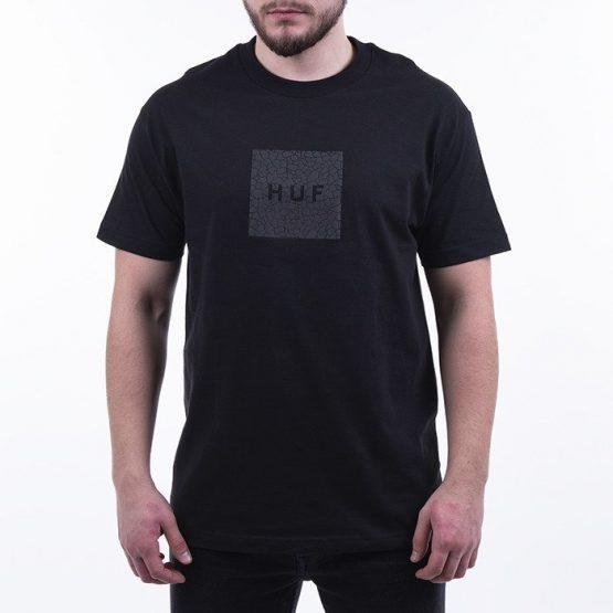 ביגוד HUF לגברים HUF Quake Box Logo - שחור