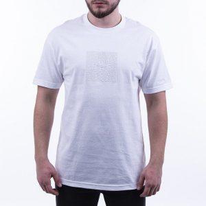 חולצת T HUF לגברים HUF Quake Box Logo - לבן