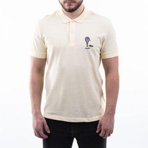 ביגוד לקוסט לגברים LACOSTE x Jeremyville Design Classic - צהוב