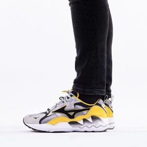 נעליים מיזונו לגברים Mizuno Wave Rider 1S - אפור/צהוב