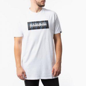 חולצת T נפפירי לגברים Napapijri Sox Chceck - לבן