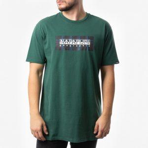 חולצת T נפפירי לגברים Napapijri Sox Chceck - ירוק