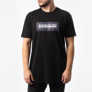 חולצת T נפפירי לגברים Napapijri Sox Check - שחור