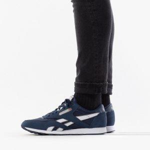 נעלי סניקרס ריבוק לגברים Reebok classic nylon - כחול/לבן
