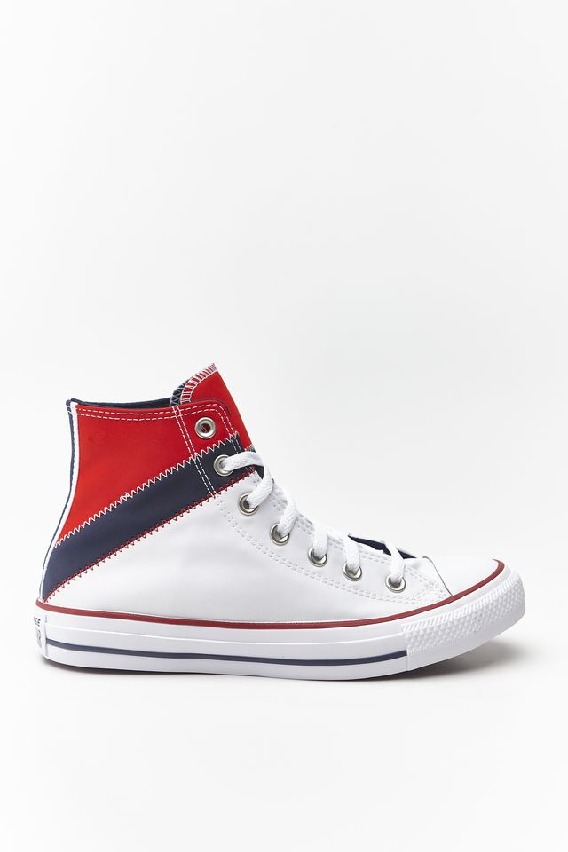 נעליים קונברס לנשים Converse Chuck Taylor All Star Hi - לבן  כחול  אדום