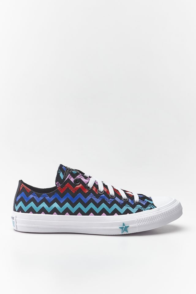 נעליים קונברס לנשים Converse CHUCK TAYLOR ALL STAR OX - צבעוני כהה