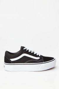 נעלי סניקרס ואנס לנשים Vans Old Skool Platform - לבן/שחור