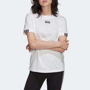 ביגוד Adidas Originals לנשים Adidas Originals TEE - לבן