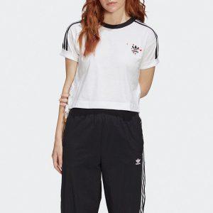 ביגוד Adidas Originals לנשים Adidas Originals Valentines Day - לבן