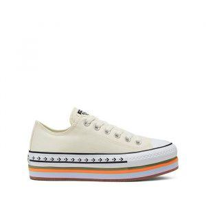 נעליים קונברס לנשים Converse Chuck Taylor Platform Layer OX Sunblocked - בז'