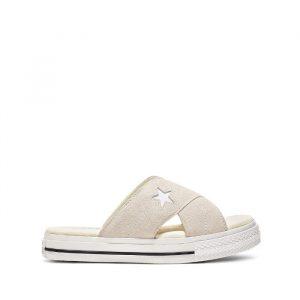 נעליים קונברס לנשים Converse One Star Sandal Slip - בז'