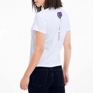 חולצת T פומה לנשים PUMA Digital Love - לבן