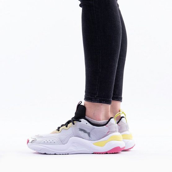 נעליים פומה לנשים PUMA Rise Contrast - לבן/צהוב