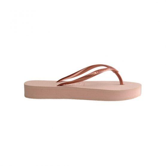 נעליים הוויאנס לנשים HAVAIANAS Slim Flatform - ורוד