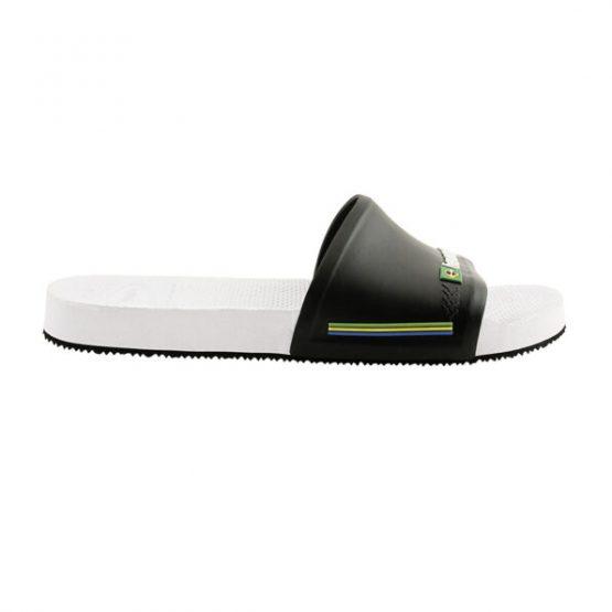נעליים הוויאנס לגברים HAVAIANAS Slide Brasil - לבן/שחור