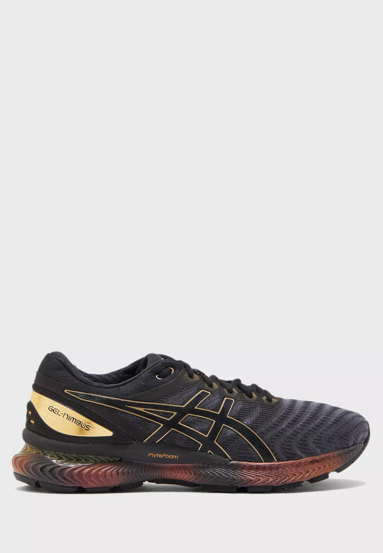 נעלי ריצה אסיקס לגברים Asics GEL-Nimbus 22 Platinum - שחור