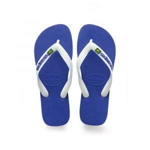 כפכפי הוויאנס לגברים HAVAIANAS Brasil Logo - לבן/ כחול