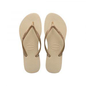 נעליים הוויאנס לנשים HAVAIANAS slim - בז'