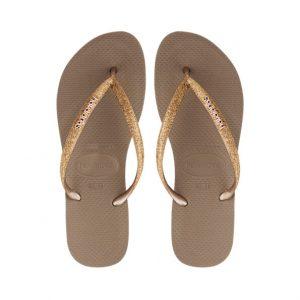 נעליים הוויאנס לנשים HAVAIANAS Slim Glitter - זהב