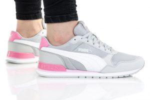 נעלי סניקרס פומה לנשים PUMA ST RUNNER V2 MESH - אפור/ורוד