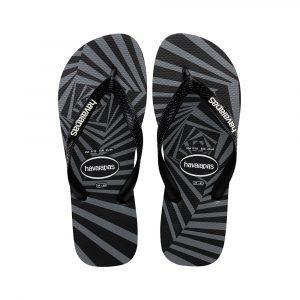 נעליים הוויאנס לגברים HAVAIANAS Top 3D - שחור/אפור