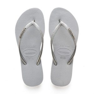 נעליים הוויאנס לנשים HAVAIANAS Slim Glitter - אפור