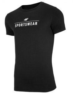 חולצת T פור אף לגברים 4F TSM005 - שחור