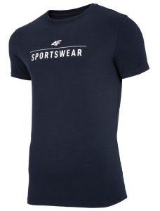 חולצת T פור אף לגברים 4F TSM005 - כחול כהה