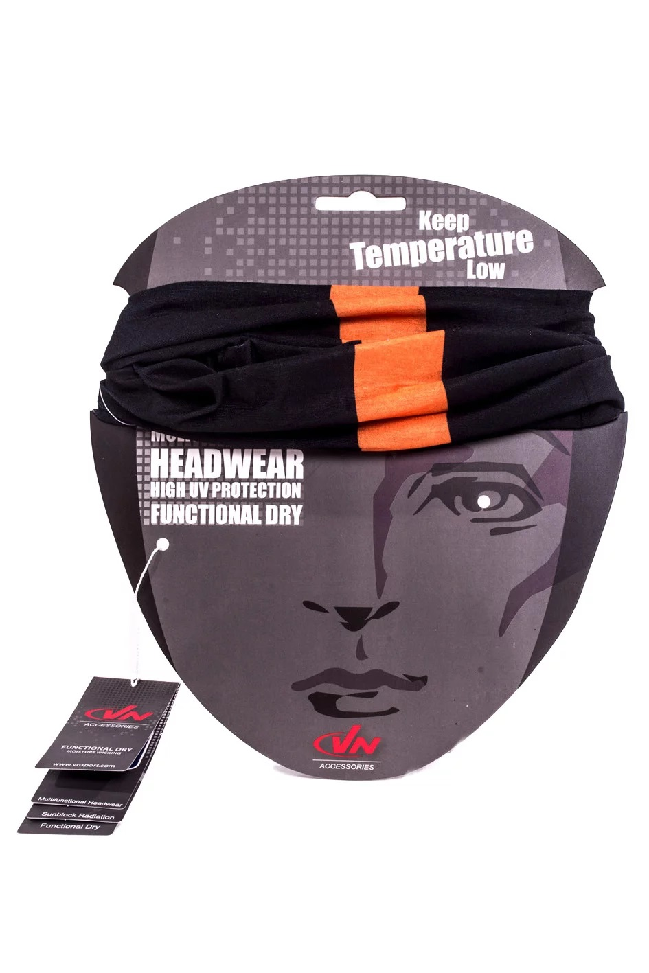 אביזרים VN לגברים VN MultiFunctional Headwear - שחור/כתום