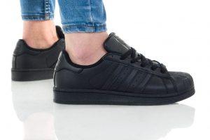 נעלי סניקרס אדידס לנשים Adidas Superstar Foundation - שחור
