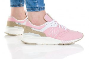 נעלי סניקרס ניו באלאנס לנשים New Balance CW997 - לבן/ורוד