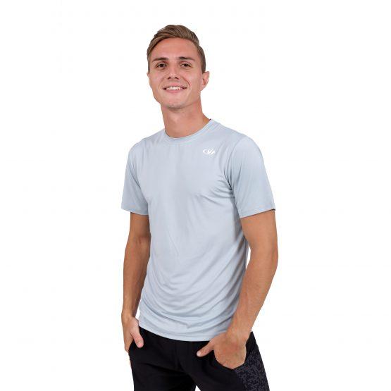 חולצת אימון VN לגברים VN Running T V1 - אפור בהיר