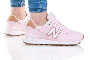 נעלי סניקרס ניו באלאנס לנשים New Balance WL574 - ורוד  זהב